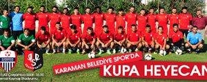 Karaman Belediye Spor Da Kupa Heyecani