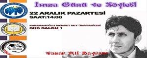 Yazar Ali Bayram, Karaman`da Üniversite Gençligiyle...