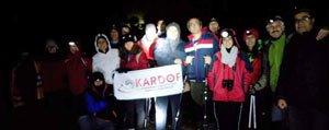 KARDOF Üyeleri Gökçe Çamligi'nda Gece Yürüdüler...