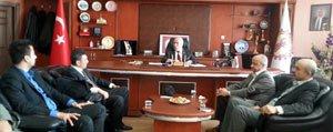 CHP IL Örgütü Esnaf Odalari Birligine Iade-I Ziyarette...