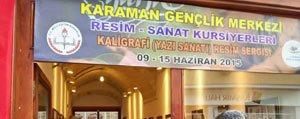 Gençlik Merkezi Kaligrafi Sergisine Yogun Ilgi