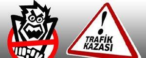 Mut`ta Trafik Kazasi: 1 Ölü