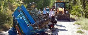 Karaman'da Çapa Motoru Devrildi: 2 Ölü, 6 Yarali