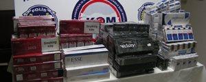 4 Bin 910 Paket Kaçak Sigara Ele Egçirildi