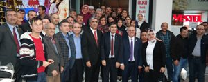 AK Parti Milletvekilleri Konuk ve Seker'den Ilçelere...