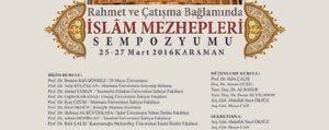KMÜ'de Islam Mezhepleri Sempozyumu Düzenlenecek