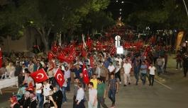 """Karaman'da """"Milli İradeye Saygı Yürüyüşü""""..."""