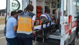 Otomobilin Çarptığı Engelli Yaralandı