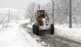 127 Köy Yolu Kar Nedeniyle Ulaşıma Kapandı