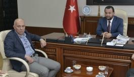 KMÜ Rektörü Akgül, Belediye Başkanı Çalışkan'ı...