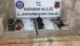 Karaman'da Jandarmadan Kaçak Kazıya Suçüstü