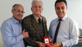 Ünlüer'e 25. Yıl Hizmet Madalyası