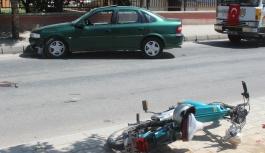 Yine Motosiklet Kazası Yine Bir Yaralı