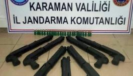Karaman'da Ruhsatsız Tüfek Operasyonu