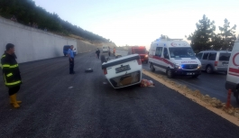Mut'ta Otomobil Takla Attı: 3 Yaralı