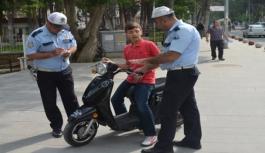 Polis Motosiklet Ve Elektrikli Bisiklet Denetimlerini...