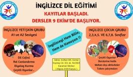 İngilizce Dil Eğitim Kurs Kayıtları Başladı