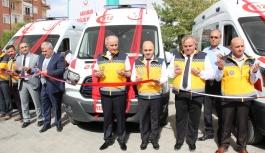 Karaman'a Gönderilen Üç Yeni Ambulans, Göreve...