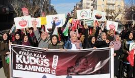 """Karaman'da """"Kudüs"""" İçin Protesto Yürüyüşü..."""