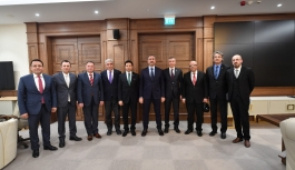 Başkan Yılmaz'dan Adalet Bakanı Gül'e ziyaret