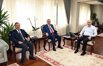 İller Bankası Konya Bölge Müdürü Vali Meral'i...