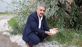 Karaman'da Dolu Elma Ağaçları Ve Ekili Alanlara...