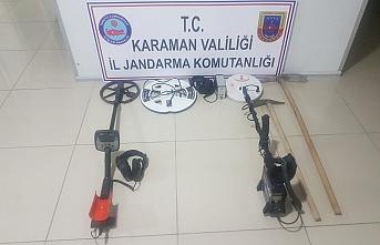 Karaman'da Kaçak Kazı Yapan 2 Kişi Yakalandı