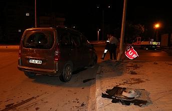 Kaza Yapan Aracın Sürücüsü Olay Yerinden Kaçtı