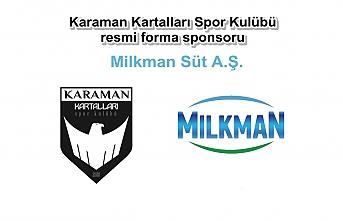Milkman, Karaman Kartalları Spor Kulübüne Sponsor...