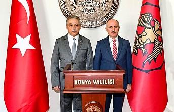 Vali Fahri Meral, Konya Valisi Cüneyit Orhan Toprak'ı...