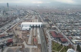 Konya'nın Yeni YHT Garı Havadan Görüntülendi...