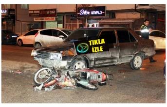 Otomobille Elektrikli Bisiklet Çarpıştı: 3 Yaralı...