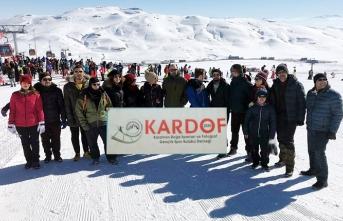 Erciyes'te Kayak Keyfini Yaşadılar