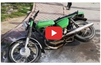 Sahibi Tarafından Ateşe Verilen Motosikleti Polis...