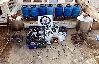 Bodrumuna Kaçak İçki Üretim Tesisi Kurmuş