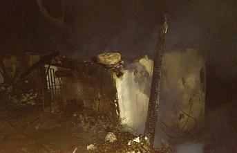 Karaman'da Aşırı Isınan Akü Yangın Çıkardı