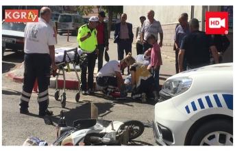 Ekip Arabası İle Elektrikli Bisiklet Çarpıştı:1...