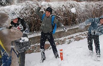 O İlçemizde Okullara Kar Yağışı Tatili