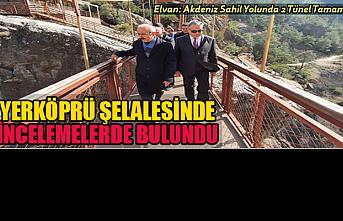 Lütfi Elvan Yerköprü Şelalesinde İncelemelerde...