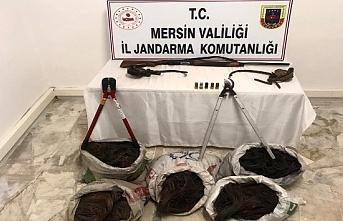 Mut'ta Kablo Hırsızlığı Yapan 2 Şahıs Gözaltında