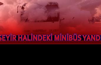 Ereğli'de Seyir Halindeki Minibüs Yandı