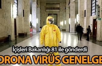 """81 İl Valiliğine """"Korona Virüs Tedbirleri""""..."""