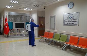 Ermenek Devlet Hastanesi Korona Virüse Karşı Dezenfekte...