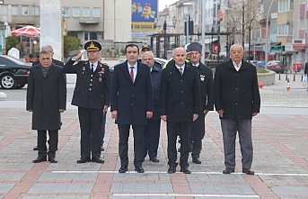 Karaman'da Çanakkale Zaferi Çelenk Sunma Töreni...