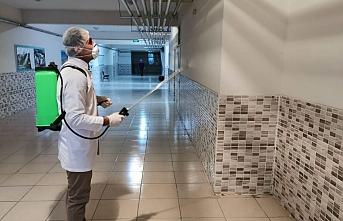 Karaman'da Okullar Koronavirüse Karşı Dezenfekte...