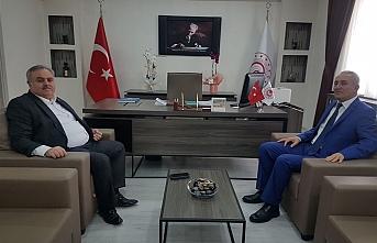 Milletvekili Şeker,İl Müdür'ü Özcan'ı Ziyaret...
