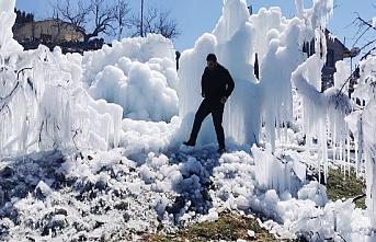 Silifke'nin Yüksek Kesimlerinde Buzul Manzarası