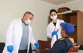 240 Temizlik Personeli Sağlık Taramasından Geçirildi