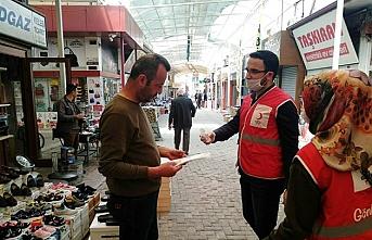 Karaman Kızılay'dan Esnafa Maske ve Dezenfektan