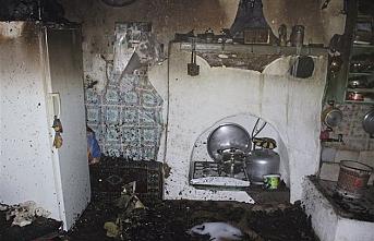 Tek Katlı Müstakil Evde Korkutan Yangın